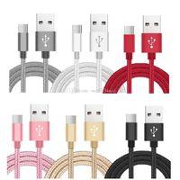 1m 2m 3m 6ft 10ft 타입 C USB C 합금 꼰 2A 빠른 충전 USB 케이블 케이블 어댑터 삼성 S8 참고 8 안드로이드 폰