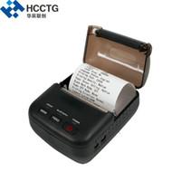 حار بيع 2 بوصة البسيطة الروبوت الجيب الحجم USB المحمولة خفيفة للغاية المحمولة بلوتوث الحرارية الطابعة المحمولة HCC-T12