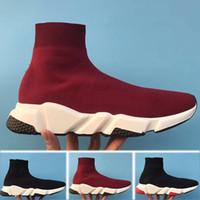 Balenciaga Speed Trainer SCARPE SCARPE VELOCITÀ TRASEGNO ATHLETIC SNEAKER Velocità Trainer Sock Race Runners Scarpe nere Scarpe da uomo Donne Sport Sneaker 36-46 H08