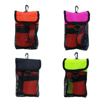 Ultralight Compact Mesh Gear Bag Pouch & Clip for Scuba Divi...