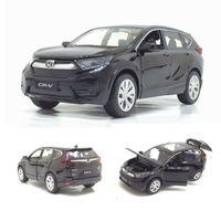 1/32 Honda Cr-v Diecasts Vehículos de juguete Modelo de coche con sonido ligero Pull Back Car Toys para niños Colección de regalos de cumpleaños J190525
