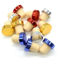 T-forma Wine Stopper Silicone plug Cork rolha de garrafa de vinho tinto Cork Garrafa plug barra de ferramentas tampa vedante rolhas para Beer RRA2838-6