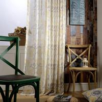 Factory Direct cortina de pano simples modernos cortinas Europeia para Sala Quarto Printing Janela Fios Tecido largura fixa