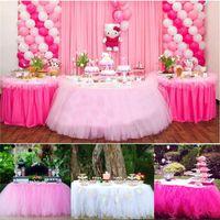 Festa di Natale Tulle Tavolo Gonna Cover Compleanno Wedding Festive Party Decor Princess Tovaglia Gonna Forniture 5 colori