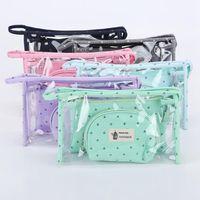 3 set Women Travel Cosmetic Bag Trasparente Zipper Crown Make Up Bag Wash Kit Borse Makeup Organizer Custodia Beauty Toiletry