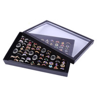 Velvet 100 Slots Ring Earrings Display Box Showcase Storage ...