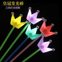 Nouvelle couronne bâtons lumineux concert bâtons lumineux accessoires les accessoires baguette magique fée baguette magique en gros