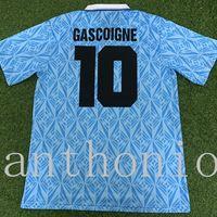 TOP 1991/1992 Lazio Soccer Jersey Star GasCoigne 10 Veron 23 Simeoone 14Classic Vintage Tailandia Calidad Uniforme Camisa de Fútbol Camiseta Kit Futbol Jerseys Tamaño S-XXL