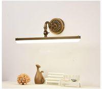 44CM / 57CM Bathroom Specchio lampada impermeabile retro bronzo armadietto di vanità Specchio luci della luce della parete ha condotto la lampada della lampada LED Wall Light