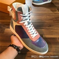 Classic Men Boombox Sneaker Boots, Colorful Leather Basketba...