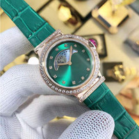 women luxury designer diamond Watches noon and sun quartz watch leather strap dress wristwatch ladies bracelet female clock gift for girl