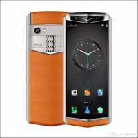 أحدث ستيريو مصغر هاتف جيب بطاقة SIM المزدوجة 3GB + 32GB مصغرة حقيبة جلد الهاتف ال WhatsApp الفيسبوك الهواتف الذكية celulares للطلاب
