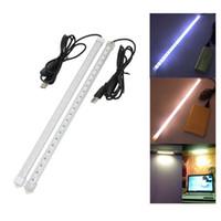 USB 35CM 7W 24 مصلحة الارصاد الجوية 5630 LED جامدة قطاع الصلب ضوء بار / إيقاف أنبوب مصباح DC 5V