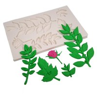 1 PC Leaf Fondant Tool Rose Silicone Mold Cake Decorating Ca...