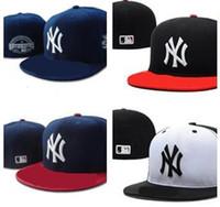 8b23e27db687c Bonne qualité New New York Fitted Chapeaux pour hommes femmes sport hip hop  mens OS chapeaux