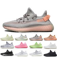 Mit Box Luxus Kanye West Clay V2 Statische Reflektierende GID Glow In The Dark Herren Laufschuhe Wahre Form Frauen Männer Sport Designer Turnschuhe