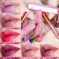 Cmaadu Diamond Lip Gloss مثير براق لؤلؤي طويل الأمد أحمر الشفاه 6 ألوان Shimmer Lip Cosmetics الشفاه العصي