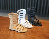 أحذية أطفال أحذية الصيف الروماني عالية أعلى الفتيات الصنادل أطفال الصنادل المصارع طفل رضيع الفتيات أحذية عالية الجودة 3 ألوان