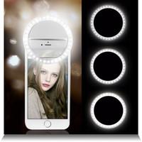 Selfie LED Ring Flash Lumiere Telefon Tragbare LED Handy Licht Clip Lampe für ISO XR Telefoon Linse Lampka do Telefonu