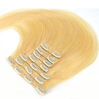 9A Grade Virgin Haar Clip in Menselijk Hair Extensions Braziliaanse Peruaanse Maleisische Indiase Rechte Remy Haar Natuurlijke Kleur Blonde Blonde 613