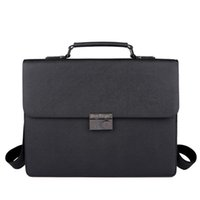 Business briefcase, men' s handbag, large capacity buckl...