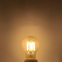 BRELONG Dimmable A60 Retro Edison LED Filament Light Bulb E27 COB Glass Bulb 2W/4W/6W/8W Filament AC220V for White Chandelier Crystal Lamp
