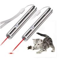 Gato de estimação Brinquedos LED Caneta Laser Pointer luz Com Brilhante Animação Rato Caneta Laser Pointer Gatos Acessórios