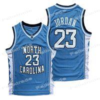 남성 노스 캐롤라이나 UNC 타르 힐 (23) 마이클 대학 NCAA 농구 유니폼 화이트 블루 블랙 셔츠를 두 번 한 stiched IN의 STOCK