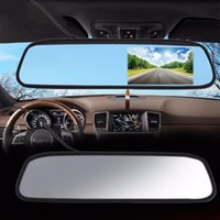 """자동차 모니터 4.3 """"화면 TFT LCD 컬러 후면 거울 모니터 역방향 자동차 후면보기 백업 카메라 DVD 12V 무료 배송"""