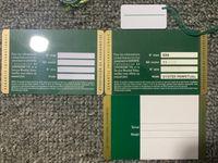 도매 녹색 안전 보증 카드 사용자 정의 인쇄 모델 일련 번호 보증서 시계 상자 시계 라벨
