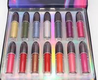 14colors rossetto trucco Kit Grand Illusion rossetto liquido brillare Shimmer Lip Gloss 1set = 14pcs per trasporto libero.