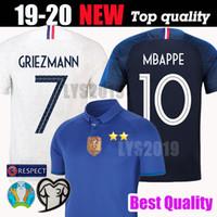 Top camiseta FRANCESA 2020 calidad tailandesa 100 aniversario MBAPPE GRIEZMANN POGBA Camisetas de fútbol de fútbol Maillot de foot