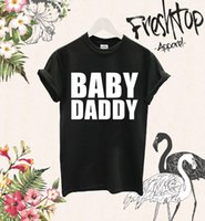 Baby Daddy Maglietta Father To Be New Dad Gift Baby Shower Mummia Hubby Wifey Party T shirt comoda, Casual Manica corta TEE