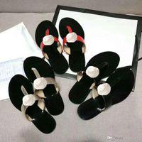 pantofole Classic estate scarpe da donna di lusso spiaggia Infradito Pantofole Designer piatto sandali tacco Fibbia in metallo pantofole grande in pelle taglia 42