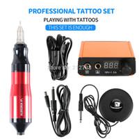 Tatuagem Profissional Pena Rotária Mini Tatuagem Kit Máquina Pedal Set Tattoos Suprimentos Acessórios Venda Quente-B7
