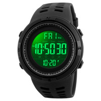 SKMEI Fashion Outdoor-Sport-Uhr Herren-Multifunktionsuhr Wecker Chrono 5Bar wasserdicht Digitaluhr reloj hombre 1251