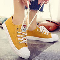 Canvas shoes for girls 2019 Spring Fashion Sneakers Solid Se...