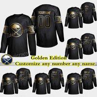 Buffalo Sabrers Golden Edition 9 Jack Eichel 26 Rasmus Dahlin 53 Jeff Skinner 55 Ristolainen Personalizza qualsiasi numero qualsiasi nome hockey jersey