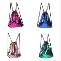Sequins Backpack Designer Purses Mermaid Drawstring Bags Wom...