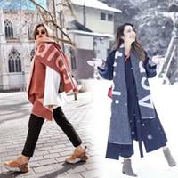 Студия повесить теги шаль с дизайнером шарфами для роскошного износа шарфа / акне письма модно, высокого качества и элегантных женщин длинного теплых шарфов