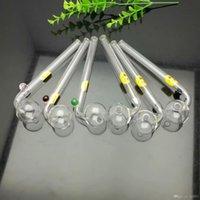 Imprimé Smiling Face à long Bend Pot en verre Bongs verre pipe Pipes eau huile Rig verre Bols huile Brûlure