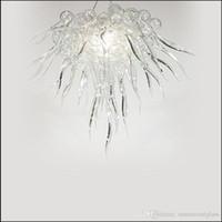مصممة بشكل جيد الرئيسية زجاج مورانو الثريا مصباح منزل جديد الديكور آرت ديكو اليد في مهب زجاج مورانو الثريا الخفيفة