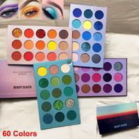Schönheit Verglaste Makeup-Palette Lidschatten 60 Farbe Brett Lidschatten hoch pigmentierte Glitter Mattes Shimmer Lidschatten NUDE treffen Sie Palette passen