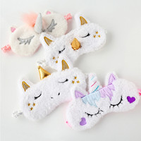 Unicorno Cute Sleeping Mask Eye Ombra Cover Patch per Girl Kid Teen Benda da viaggio Makeup Eye Care Tools Accessori notte