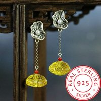 S925 Silver Natural Beeswax Lotus Leaf Lotus Seedpod Of The ...