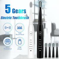 Escova de dentes spinbrush poderoso ultra-sônico sonic elétrico usb cobrança recarregável escovas de dentes laváveis escova de dentes de clareamento eletrônico