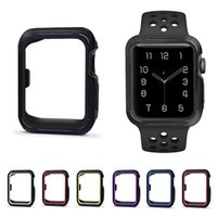 custodia protettiva con placca per Apple Watch iWatch series 1 2 3 38mm 42mm 40mm 44mm Plating Soft Silicone Caseshell perfect match 10 colour