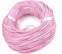 100metrs/lot 17Colors 2mm Round 100% COW Round Real Leather Jewelry Cord 2mm Genuine Leather Cord Bracelet & Necklace Cord
