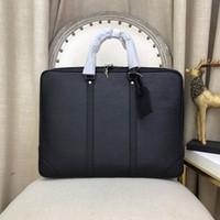الرجال مصمم حقائب فاخرة الرجال عالية الجودة حقيبة جلد قدرة كبيرة حجرات متعددة كيس أسود الأعمال كلمة المرور ض