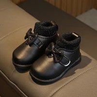 Новые ботинки зимы ботинки младенца 2 цвета Сладкие Девочки Теплый Снег сапоги для новорожденных малышей Prewalker обувь